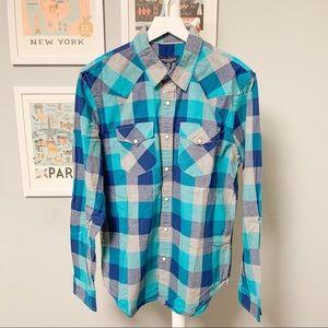 American Eagle Western Button-Down Shirt XL